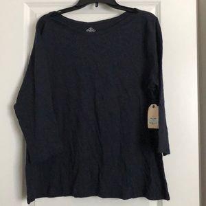 NWT St John's Bay 3/4 sleeve shirt